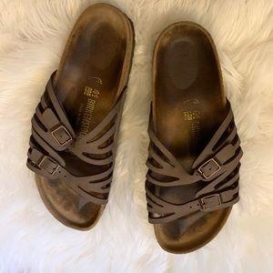 Brown Birkenstock gray style strappy sandals 38